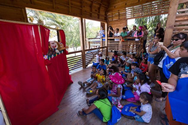 Niños de los valles disfrutaron de actividades culturales y deportivas en Parque Centenario